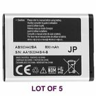5 Samsung AB503442BA OEM Battery Lot for SGH A127 SGH T509 550mAh New
