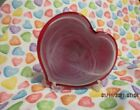 MURANO ART GLASS HEART VALENTINE HEART SHAPED BOWL NEW WITH TAG
