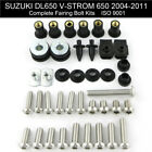 For Suzuki DL650 V-Strom 650 2004-2011 Full Fairing Bolts Kit Stainless Screws