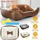Large Soft Warm Fleece Pet Bed Dog Cat Cozy Cushion Mats Machine Washable