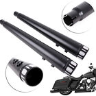4 Exhaust Pipe Megaphone Slip On Mufflers End Cap Tapered For Harley Touring