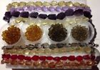 2 lb Assorted Glass Crystal Loose Beads Bulk Whole Sale Faceted Nuggets