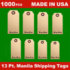 1000 Manila 13 Pt Inventory Shipping Hang Label Price Tags Size 12345678