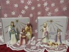 FENTON ART GLASS NATIVITY HOLY FAMILY  WISEMEN SET OF 6 FIRST EDITION
