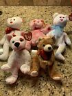 Ty Beanie Babies~Lot Of 5 Valentines Bears