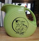 Fiesta HLC CHARTREUSE Dancing Lady Large Disk Pitcher MINT Free Ship