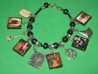 Victorian Witches Altered Art Slider Charm Bracelet
