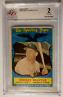 1959 Topps #564 MICKEY MANTLE BVG 2 GD