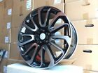 22 BLACK AUTOBIOGRAPHY RIMS WHEELS FITS LAND ROVER DISCOVERY LR2 LR3 LR4 LR5