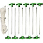 10pcs Galvanized Non Rust 10 Nail Head Stake Pegs Tent Ground Stakes Set Ropes