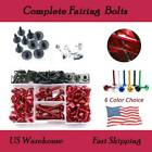 Motorcycle Complete Fairing Bolts Kit Nuts Screws For Suzuki RF900R 1993-1999