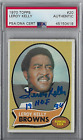 1970 Topps Leroy Kelly Signed Autographed Football Card #20 Browns HOF PSA