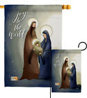 Joy To The World Nativity Mary Jesus Christ Birth Garden House Yard Flag