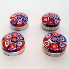 Hand Made Murano Glass Millefiori Button Covers Choice of Style and Quantity