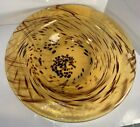 Vintage 14 Spotted Swirl Leopard Tortoise Shell Art Glass Bowl Made in Italy