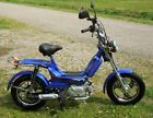 Metro Rider 50 cc Gas Powered Moped Blue Color Ships Assembled Brand New