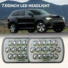 2Pcs 7X6 5X7 150W DOT LED Headlight HI LO Beam Crystal For Jeep Cherokee XJ YJ