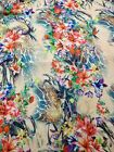 5 Metres Silky Unique Gorgeous Floral Bright Print Patterned Fabric