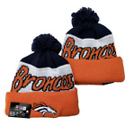 Denver Broncos NFL Football Beanie Warm Winter Knit Pom Cap Hat Fleece lined