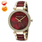 NEW Michael Kors MK6427 Parker Ladies Watch Choronograph Red and Gold 39MM