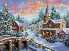 Dimensions Gold Collection Counted Cross Stitch Kit Holiday Village Christmas x