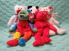 TY Beanie Babies Lot of 5 Retired Herald Fortune Valentino Frankenteddy Sizzle