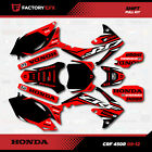 Black Red Shift Graphics Kit fit 09-12 Honda Crf450R CRF 450 450R Shroud Plates