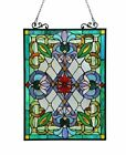 Tiffany Style Victorian Design Stained Glass Window Panel 18 W x 26 T