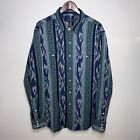 Polo Ralph Lauren Aztec Mens Shirt Tribal Pearl Snap Button Native American XXL