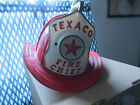 Vintage Shiny Red Texaco Fire Chief Toy Helmet w/ All Attachments