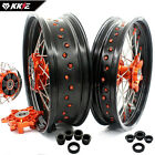 KKE 3.5/5.0*17 Fit KTM690 SMC ENDURO R Supermoto CUSH Drive Wheels Rims Orange