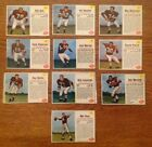 1962 Post Cereal Football Cards Cleveland Browns (10 Diff. Cards - 3 HOFers) VF