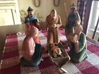 Hans Huggler Wyss Swiss Wooden Carved Nativity Figures Jesus Mary Joseph Group A