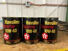 Old Vintage Texaco Havoline Supreme Motor Oil  Quart Can  10W-40( full)