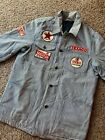 Vintage Texaco Gas & Oil Station Attendant Jacket 5 Patch Marfak Worker