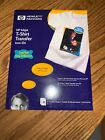 New HP Hewlett Packard Inkjet T Shirt Transfer Iron On Sheets Set of 10 Sealed
