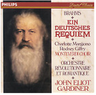 BRAHMS EIN DEUTSCHES REQUIEM CD Gardiner - Philips Free Ship No Box Very Good