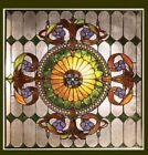Tiffany Style Matching Stained Cut Glass Window Panel 25 X 25 ONE THIS PRICE