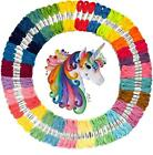 Embroidery Floss Set Kit Skeins Cross Stitch Sewing Multi Colors Handcraft DIY