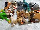 Lot (10) Ty Teenie Beanie Babies 1999 Stretchy Iggy Nuts Chip Freckles Claude