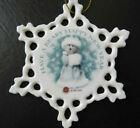 Boyd's Bears Porcelain Christmas New Year Ornament Cut Out Snowflake 2004