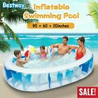 906020 Inflatable Swimming Pool Blow Up Family Pool For Kids Indoor Outdoor