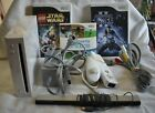 Nintendo Wii Console Bundle w 3 Games 2 Star Wars Sports Refurbished