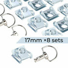 8 X Race Fasteners Quick Release 1/4 Turn Fairing 17MM D-Ring