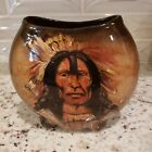 Signed Rick Wisecarver Art Pottery Pillow Vase Mint Condition