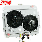 3 ROW RADIATOR+SHROUD FAN+Relay fit 1972 1986 1985 1979 1978 JEEP CJ CJ5 CJ6 CJ7