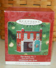 2001 Hallmark Fire Station #1 Christmas Ornament 3rd in Town And Country Series