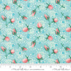 Abby Rose Seafoam 48672 15 By Robin Pickens For Moda Fabrics - Quilt Floral
