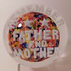 A STUNNING JOHN GENTILE  REMEMBER FATHER AND MOTHER  Art Glass Paperweight