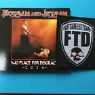 Flotsam and Jetsam - No Place for Disgrace RARE 2014 CD + Patch